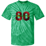 Red and Green Santa Rehaxtonstudios logo  Youth Tie Dye T-Shirt