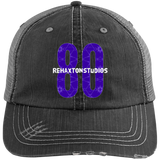 Barbed Wire Logo Distressed Unstructured Trucker Cap
