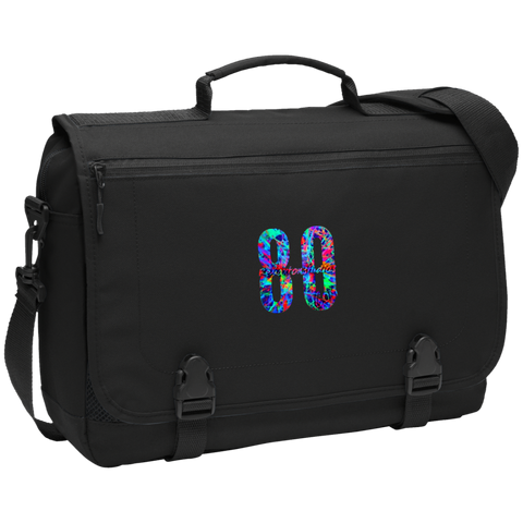 Blacklight Logo Port Authority Messenger Briefcase