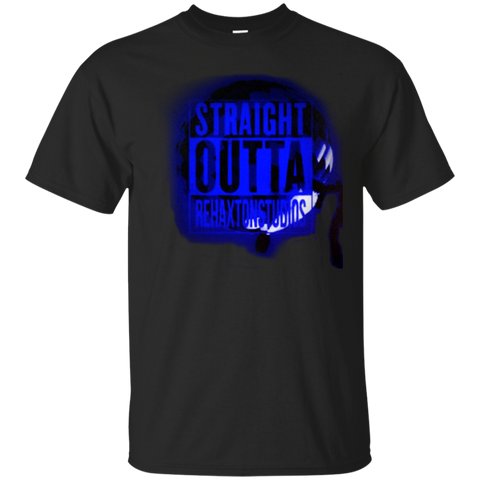Straight Outta Rehaxtonstudios Blue Gildan Ultra Cotton T-Shirt