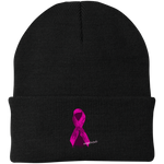 420 breastcancer awareness Port Authority Knit Cap
