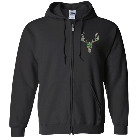 High on Realtree Skull Gildan Zip Up Hooded Sweatshirt