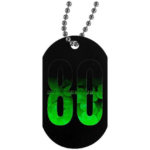 Rehaxtonstudios Luck of Irish Logo Silver Dog Tag