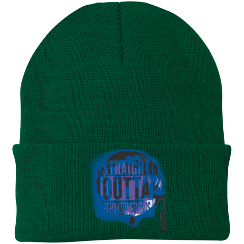Straight Outta Rehaxtonstudios Blue Port Authority Knit Cap