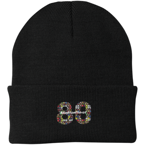 Rehaxtonstudios Graffiti Can Logo Port Authority Knit Cap
