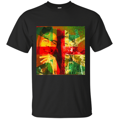 Bob Marley Star Lit Gildan Ultra Cotton T-Shirt