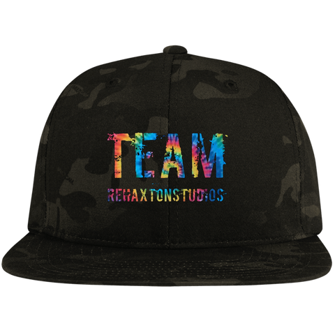 Summer Team Rehaxtonstudios Sport-Tek Flat Bill High-Profile Snapback Hat