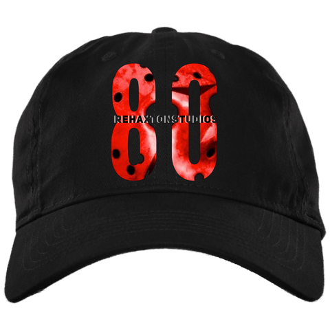 Red Jason Hockey Mask Logo Brushed Twill Unstructured Dad Cap