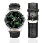 Zombies Hands Men's Casual Leather Strap Watch