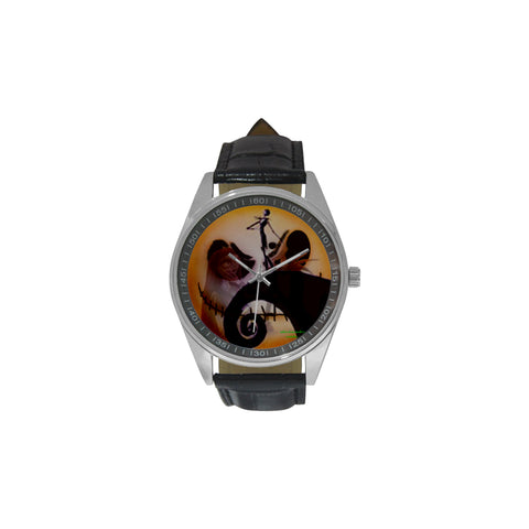 Nightmare Before Chirstmas  Men's Casual Leather Strap Watch