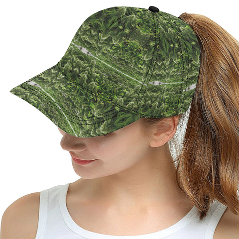 Green Weed Plant All Over Print Snapback Hat