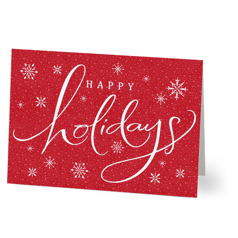 Happy Holidays with Snowflakes and Circles from Hallmark