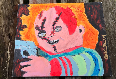 Chucky serial killer Doll Blacklight Canva