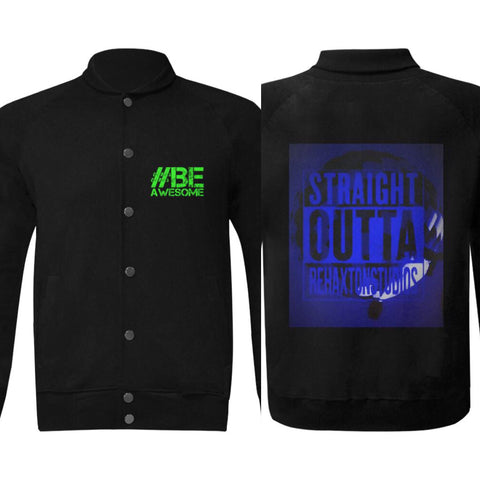 Straight Outta Rehaxtonstudios blue jacket