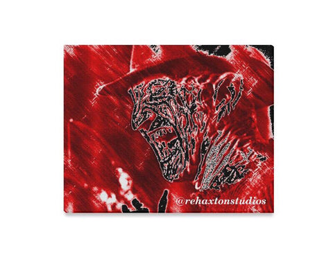 "Freddy blood red dropping Canvas Print 20""x16"""