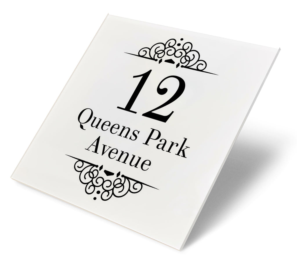 Classic Elegance Acrylic House Sign - Abodian Signs