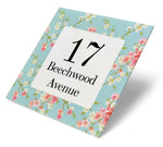 Floral Cherry Blossom Acrylic House Sign - Abodian Signs