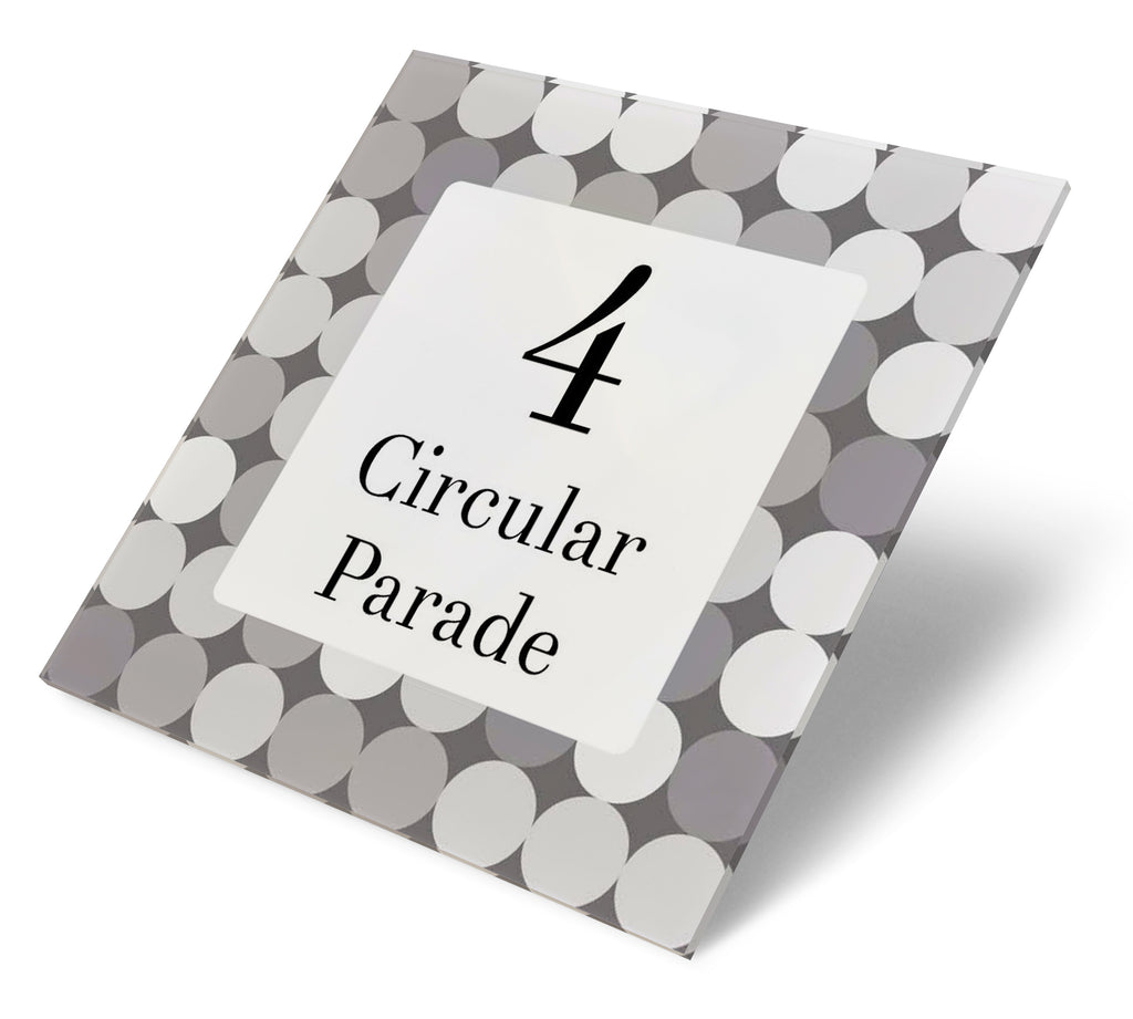Modern Greys Circles Acrylic House Sign