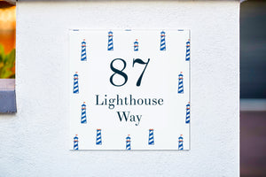 Nautical Lighthouse Acrylic House Sign - Abodian Signs