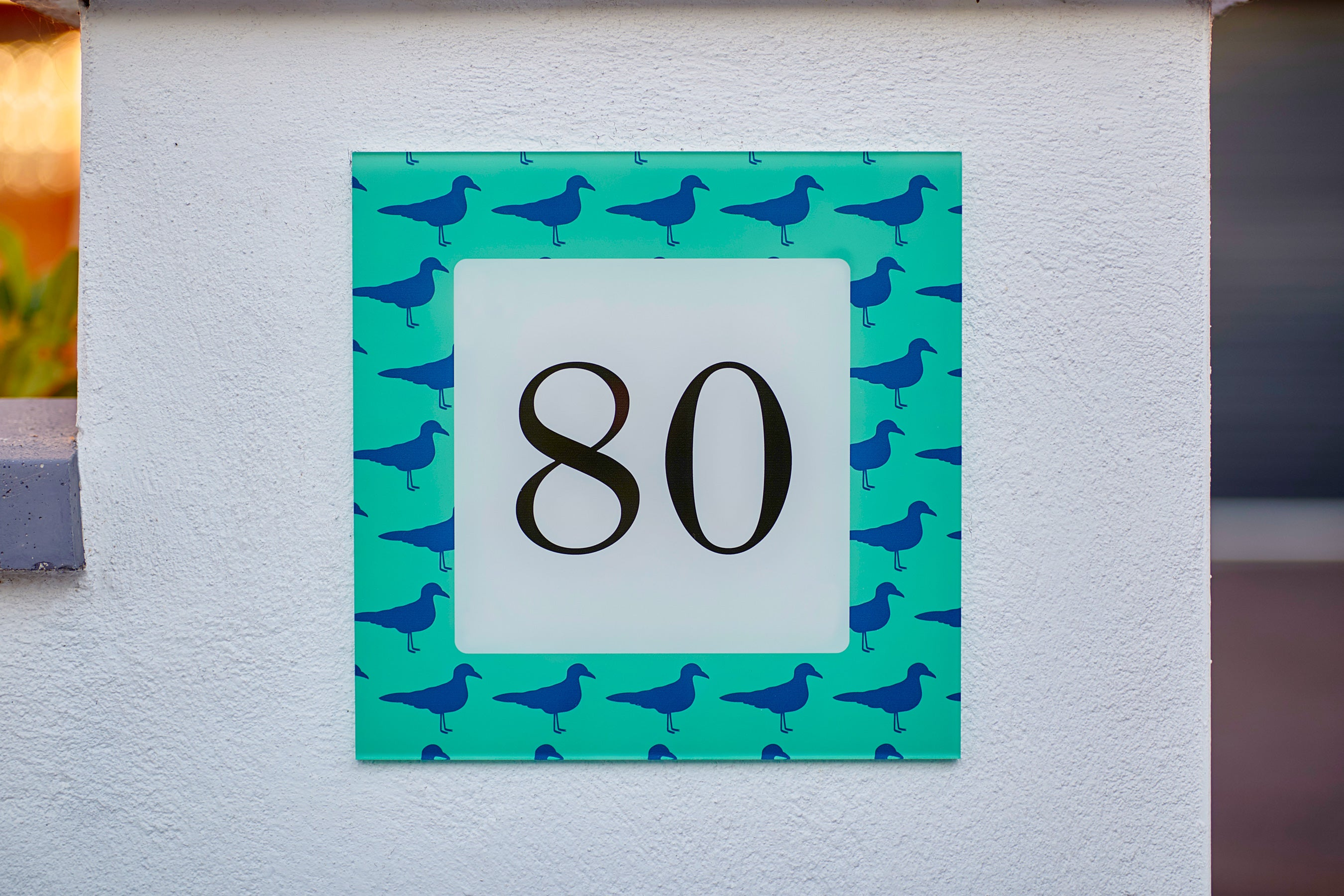 Nautical Seagull Acrylic House Sign - Abodian Signs