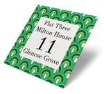 Retro Arch Green Acrylic House Sign - Abodian Signs