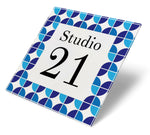 Retro Biba Blue Acrylic House Sign - Abodian Signs