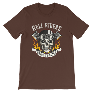 Short-Sleeve Unisex T-Shirt Hell Riders Ride to Live