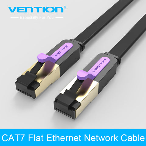 Vention Cat7 Network Cable RJ45 Flat Lan Cable Ethernet Cable 1m 1.5m 2m 3m 5m 10m 15m rj45 Patch Lan Cable for PC Router Laptop
