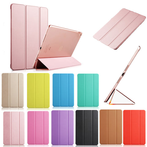 Ultra thin Magnetic PU Leather Smart Cover with PC Hard Stand case for new iPad 9.7 inch released March 2017