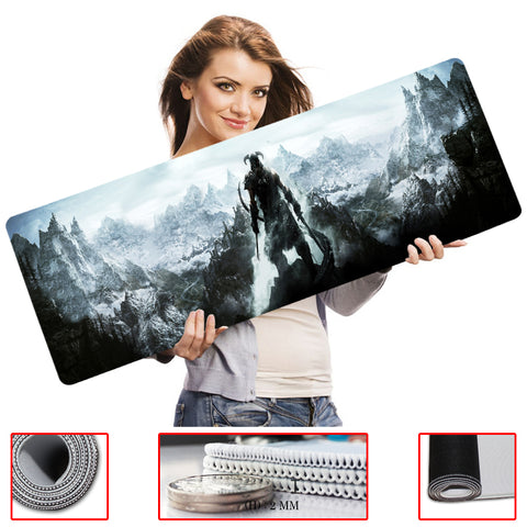 MaiYaCa Elder Scrolls V Skyrim Mouse Pad pad Overlock Edge Big Gaming mouse Pad Send BoyFriend the Best Gift