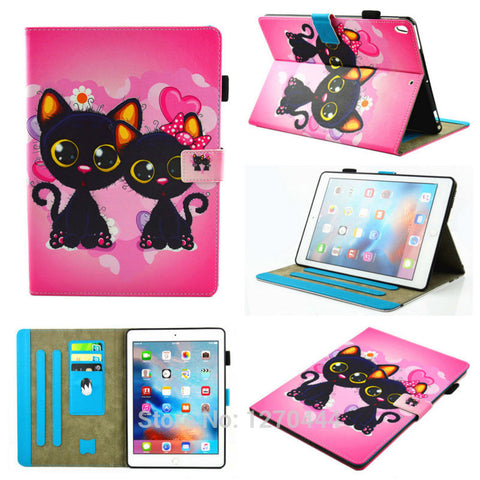 Case for Apple iPad Pro 10.5 2017, Luxury Magnetic Cartoon Series Stand Leather protective case cover for ipad pro mini 10.5inch