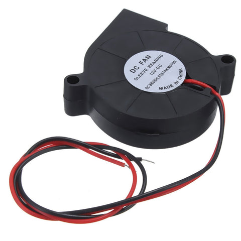 1Pc 12V DC 50mm Blow Radial Cooling Fan Hotend Extruder For RepRap 3D Printer NEW