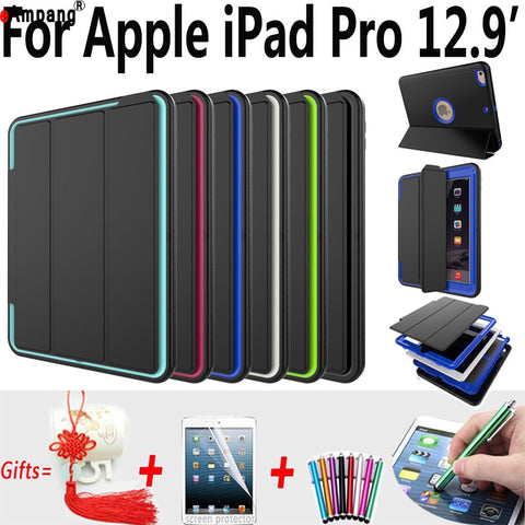 Magnet Smart Auto Sleep AWake Case for Apple iPad Pro Trifold Stand Cover for iPad Pro 12.9 Shockproof Case for iPad Pro 2015