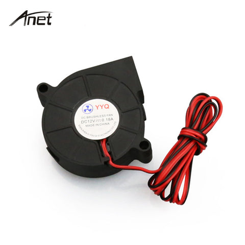 Anet 5pcs/lot 5015 Cooling Fan Blower Turbo Fan 3D Printer Parts DC 12V 50x50x15mm Blower Fan For 3D Printer