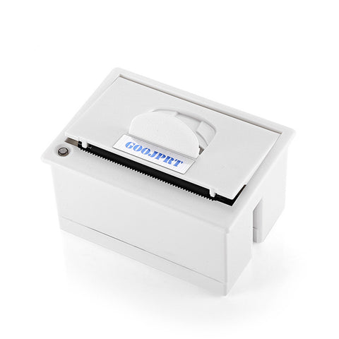GOOJPRT QR204 58mm Micro Embedded Receipt Thermal Printer RS232 / TTL USB Panel High Speed Printing 50 - 85mm /s White Color