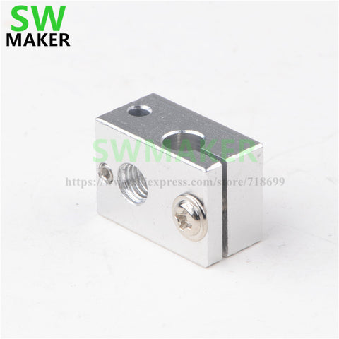 SWMAKER 2017 new type 3D printer parts all metal heating aluminum block, heated block  for  V6  extrusion machine