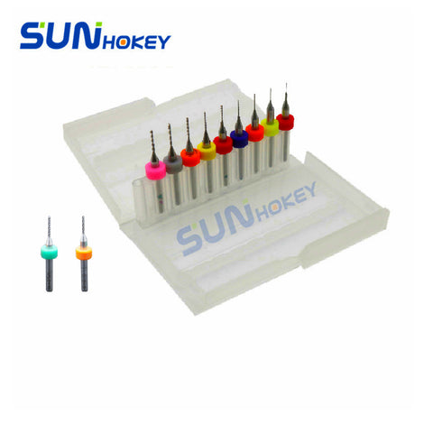 Sunhokey High Quality 10pcs/lot 0.2/0.3/0.4/0.5/0.6/0.7/0.8/0.9/1.0/1.1/1.2 Cleaning Nozzle Drill for 3D Printer Nozzle cleaner
