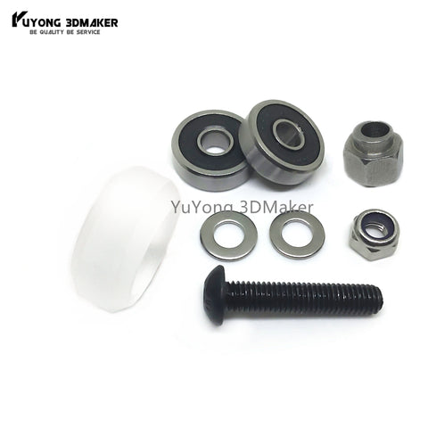 Adjustable CNC clear Polycarbonate Xtreme solid v wheel kits with Eccentric Spacers for v-slot rail,OX CNC,C-Beam parts
