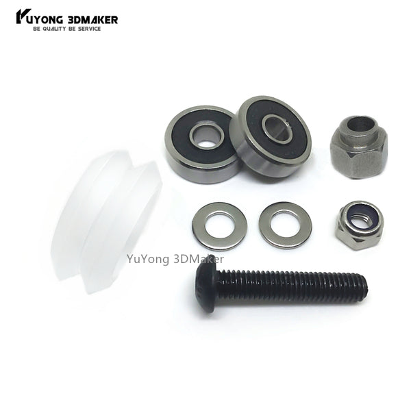 Adjustable CNC clear Polycarbonate Xtreme Dual v wheel kits with Eccentric Spacers for v-slot rail,OX CNC,C-Beam parts