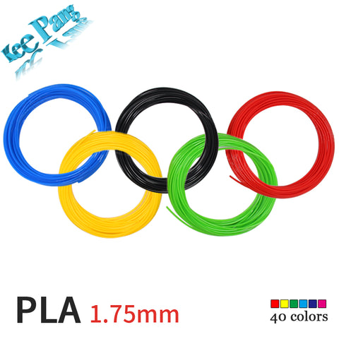 10 Meter PLA 1.75mm Filament Printing Materials Plastic For 3D Printer Extruder Pen Flexible Accessories Black Colorful Rainbow