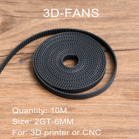 Hot sale 10meter GT2-6mm open timing belt rubber width 6mm GT2 belt GT2 6mm  for 3D printer