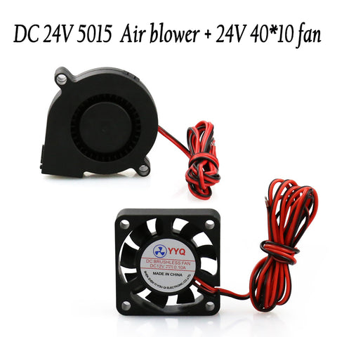 DC24V Cooling extruder 5015 Air blower+40*10Fan for anet A6 A8 Circuit board heat Reprap Mendel Prusa I3 3D Printer Parts