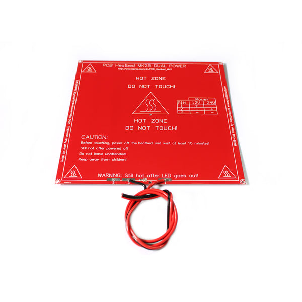 3D Printer parts mendel PCB Heatbed MK2B with led and Resistor and cable Heated Bed for Mendel 3D printer hot bed