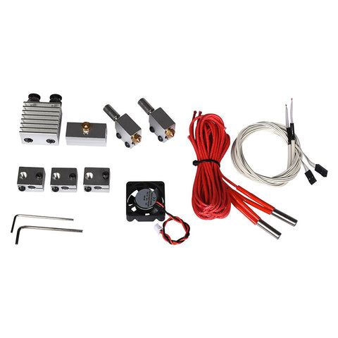 SWMAKER 1set Dual-extrusion hotend Kit Cyclops+ Volcano Kit + volcanic nozzle hot end Kit