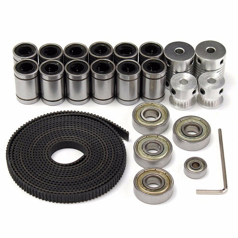 3D printer parts reprap prusa i3 movement kit GT2 belt pulley 608zz bearing lm8uu 624zz bearing for 3D printer