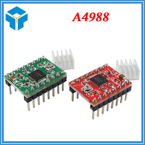 10pcs.Stepper Driver A4988 Stepper Motor Driver Module with Heatsink red and green