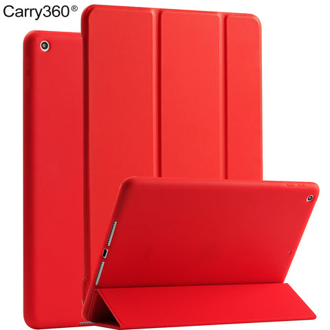 For iPad 2017 Case, Carry360 PU Leather + Soft Silicone Wake Sleep Stand Smart Cover for Apple iPad 2017 9.7 inch New Model