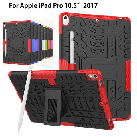 "Case For new iPad Pro 10.5"" 2017 A1701 Cover Heavy Duty 2 in 1 Hybrid Rugged Durable Shockproof Rubber Funda Tablet Shell+stylus"