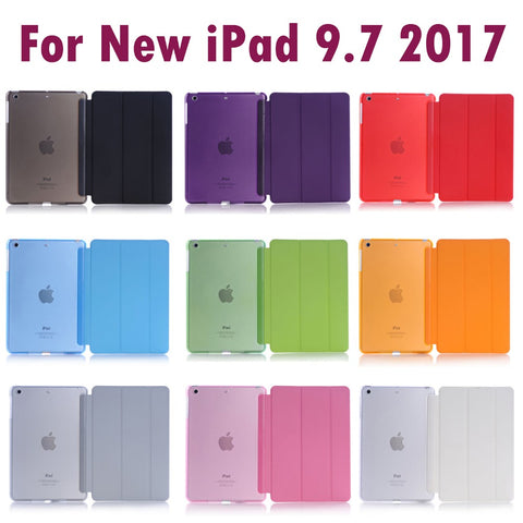 For Apple New iPad 9.7inch 2017 Sleeping Wakup Ultral Slim Leather Smart Cover Case
