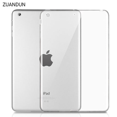 For iPad 2017 Case Air 1 Air 2 Shockproof Clear Soft Silicone TPU Case Cover For iPad 4 For iPad Mini 4 Tablet Protective Cases